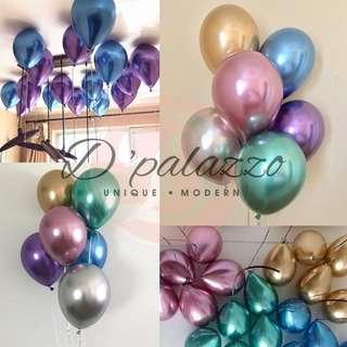 12'inch 3.2g Thicken Chrome Balloon Party Decoration Metallic Balloon Shiny