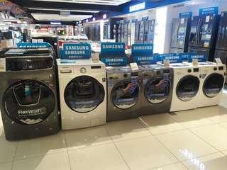 Samsung Frontload washers ON SALE!! 80% and 100% dry