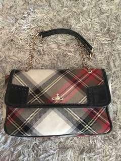 Vivienne Westwood Winter Tartan Chain Bag
