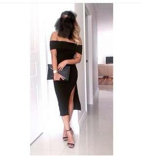 Kookai Off Shoulder Black Dress