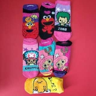 卡通珊瑚絨襪子