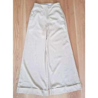 Linen Wide Leg Pants Sz 6