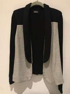 Pencey Standard Black and Grey Sweater Jacket