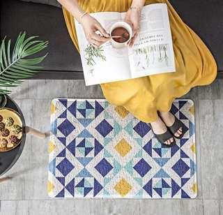 Marrakech Tile Pattern Print 3M Style Dust Mat