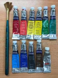 Winsor and Newton Watercolor and Daler Rowney Brush