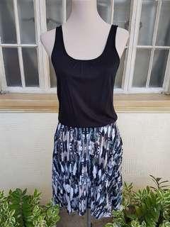 BNWT Cotton On Black Tank Dress with Graphic Print Skirt