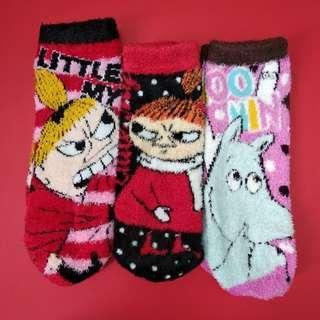 姆明卡通珊瑚絨襪子