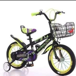 Kids Bicycle - 16inch black and yellow