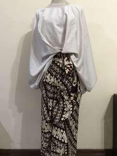 Take all: batik skirt&batwing blouse