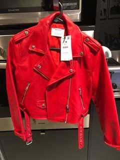 Red Faux Jacket