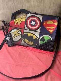 Marvel Collection Wonder Woman, Iron Man, Batman Clutch Bag