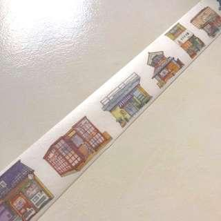 Japanese shop houses washi tape