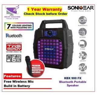 #SonicGear KBX900 Bluetooth Portable Speaker Free Wireless Mic (TWS Ready)#
