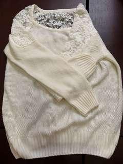 蕾絲針織上衣