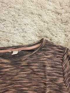 Peach and Brown H&M Knit top