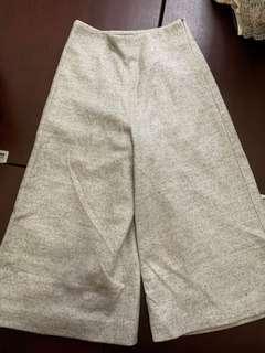 韓國牌毛呢七分闊腳褲