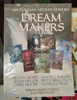 Dream Makers six fantasy artists at work book graphic arts paper tiger