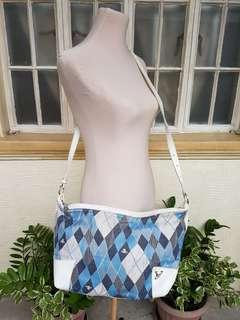 Vivienne Westwood Classic Blue and White Plaid Sling Bag