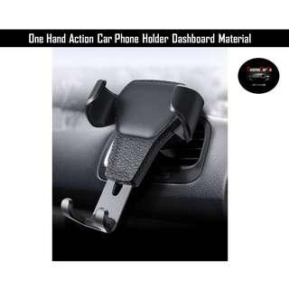 Quality Reliable Universal Car Phone Holder Cradle Mount on Air Vent for Iphone, Samsung, Mobile Phones, One Hand Motion Easy Hold Dashboard Material