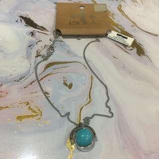 ISHKA Long Spinning Gemstone Silver Turquoise