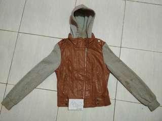 Gazoz Synthetic Leather Jacket