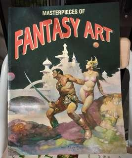 Masterpieces of Fantasy Art book graphic arts design