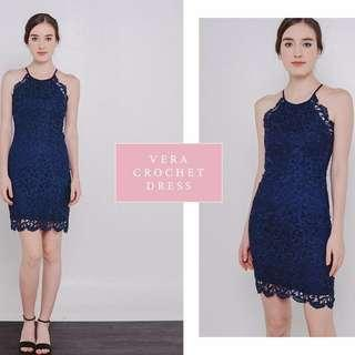 The West Urban Lace Dress in Navy