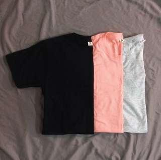 plain basic unisex shirts