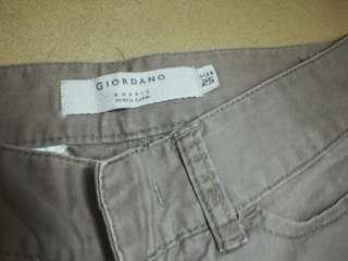 (Preloved) Giordano khaki pencil capri pants