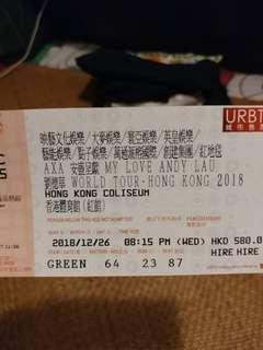 劉德華演唱會2018 (26/12 想換 17-18/12 or 1/1 )
