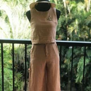 Linen pants and top