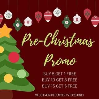 PRE-CHRISTMAS PROMO