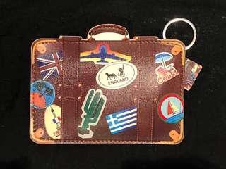 Travel size card holder/multipurpose holder - wanderlust (brown)