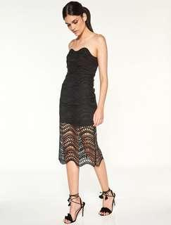 BN Talulah vixen dress black size a/8 RRP300