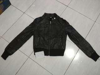 Dear Semi Synthetic Leather Jacket