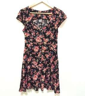 Forever 21 button down floral dress