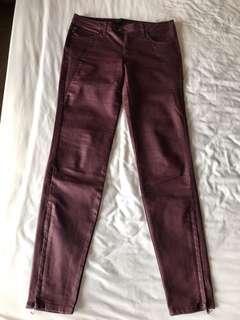 Near new Zara leather looking jeans NZ size 6-8
