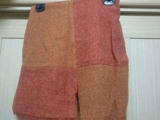 拼接保暖短褲
