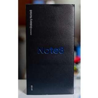Samsung Galaxy Note 8 [Midnight Black] with Fullbox