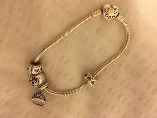 Pandora bracelet+ charms