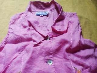 Pink Polo Blouse