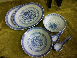 Rice grain porcelain set
