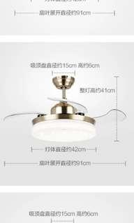 OPPLE Designer Light Hidden Ceiling Fan Remote