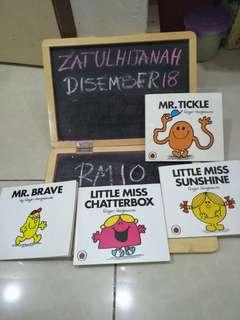 Books 1 set RM10 Mr happy