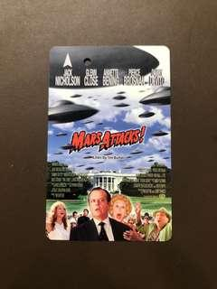 Clearing Stocks: Singapore Early SMRT/Transit Link Card: Mars Attacks!