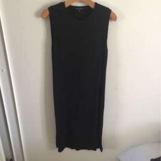 Midi dress with side splits