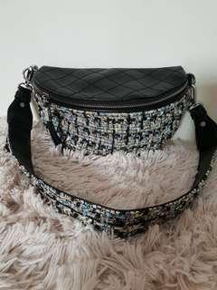 Tweed waist pouch or shoulder sling