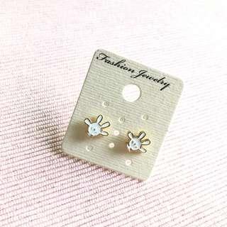 Earrings - Mickey white