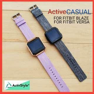 🚚 Canvas and Nylon Straps for Fitbit Blaze and Fitbit Versa