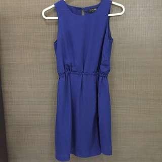 [Zalora] Sapphire blue one piece dress